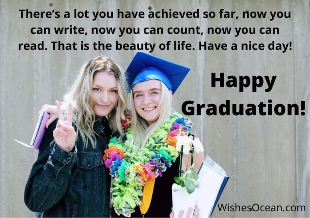 Graduation Wishes for Sister