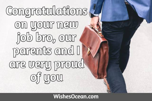 Best Wishes for New Job to Brother