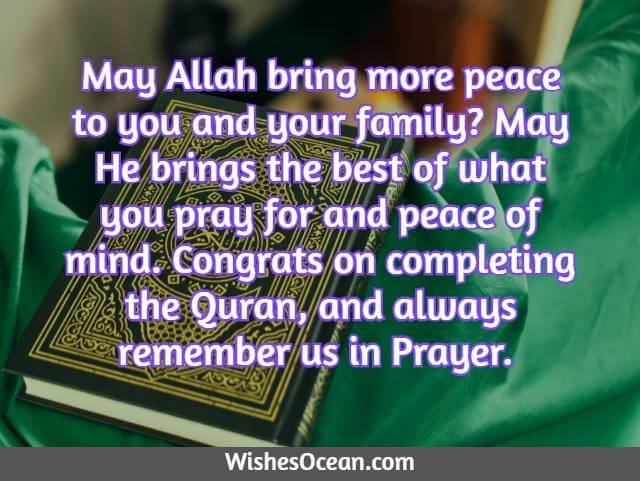Congratulation Message on Completing The Quran