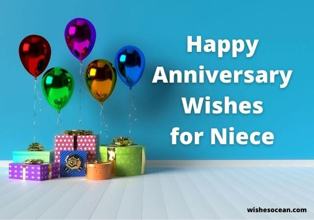 wedding anniversary wishes for niece