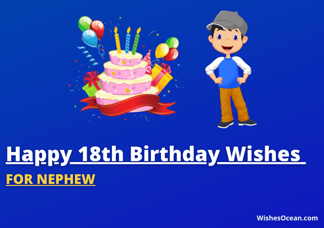 18th Birthday Wishes for Nephew