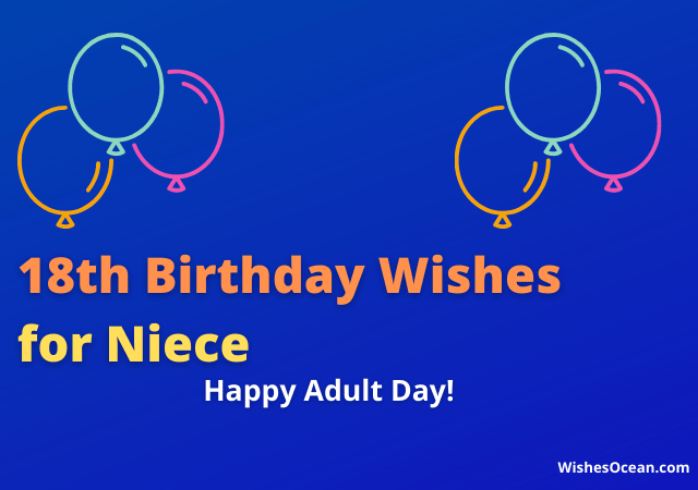 18th Birthday Wishes for Niece