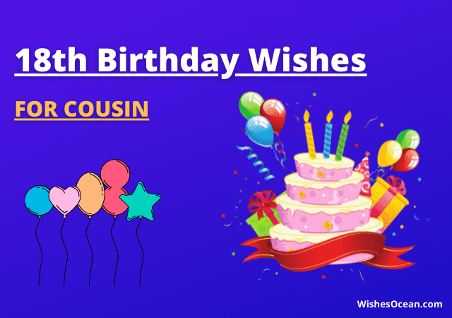 18th Birthday Wishes for Cousin
