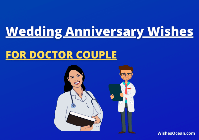 Wedding Anniversary Wishes for doctor couple