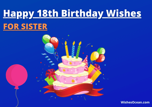 18th Birthday Wishes for Sister