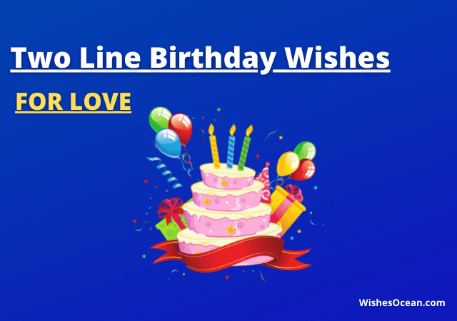 Two Line Birthday Wishes for Love