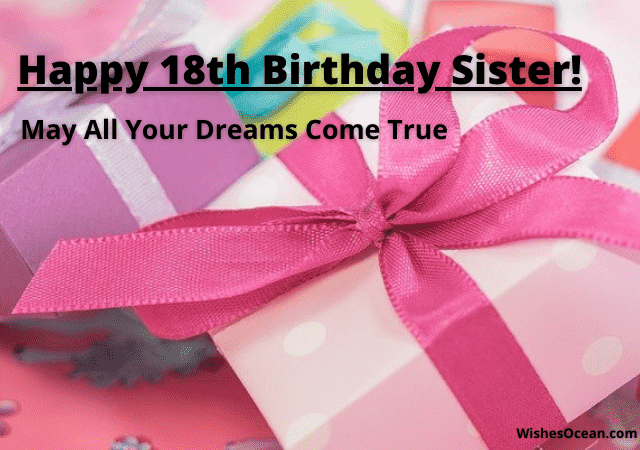 Happy 18th Birthday Wishes for Sister